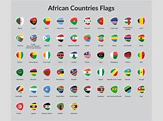 African countries flag stock vector Illustration of