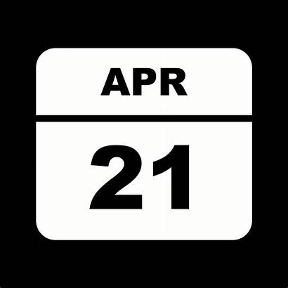 April Calendar 21st Vector Date Clipart Single
