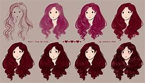 Hair - Step by Step by AShiori-chan on DeviantArt