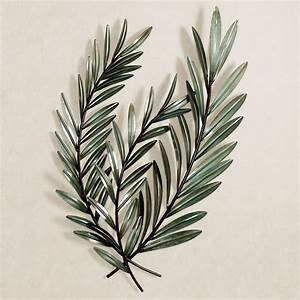 Laurella leaf metal wall art