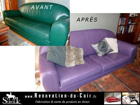 renovation canapé cuir r 201 novation salon cuir sofolk