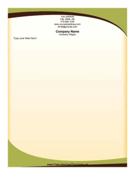 sophisticated green letterhead