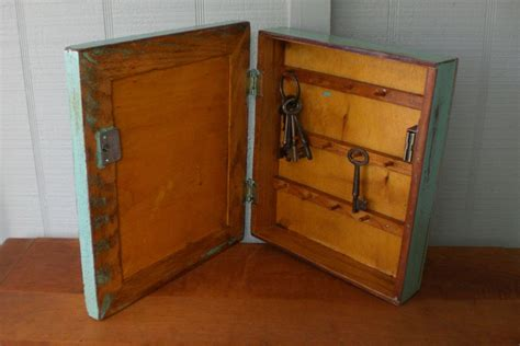 Key Cupboards primitive vintage key cabinet wooden hanging wall box