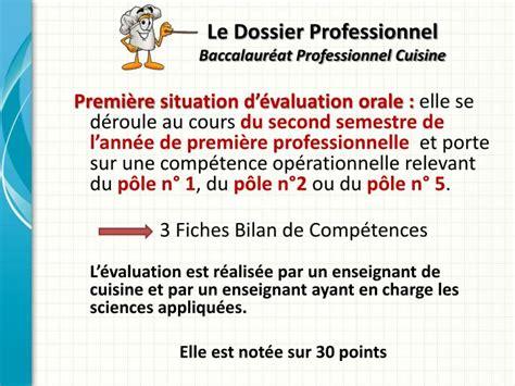 coefficient bac pro cuisine ppt le dossier professionnel baccalauréat professionnel