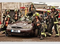 Female firefighters from South Yorkshire do Britain's