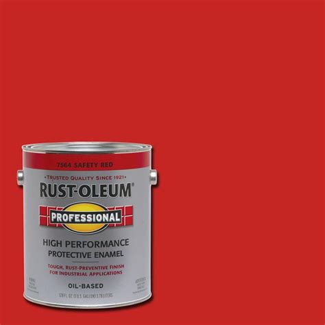 rust oleum professional 1 gal safety gloss protective enamel 7564402 the home depot