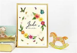 affiche personnalisee jardin exotique plume malice With affiche chambre bébé avec livraison fleurs exotiques