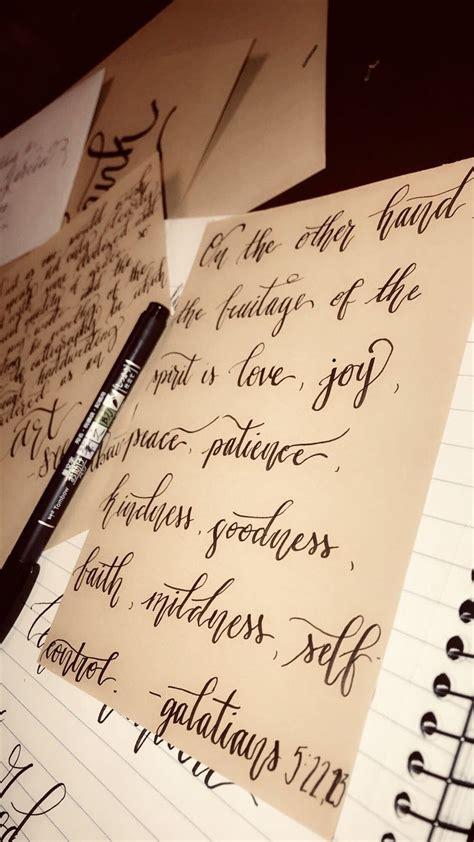 galatians  calligraphy  beginners handwriting
