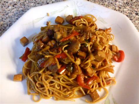 recette cuisine au wok wok de nouilles chinoises au tofu recette de wok de