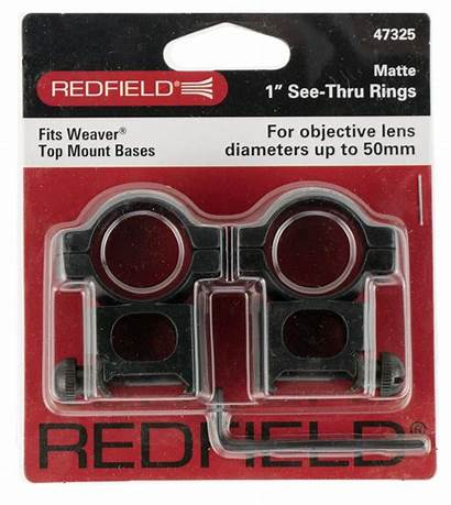 Rings Thru Redfield Alum Matte Mounts Optics