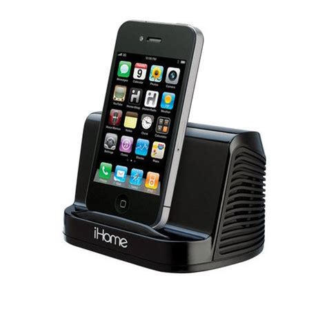 ihome for iphone 5 ihome ihm16 black portable stereo speaker for apple iphone