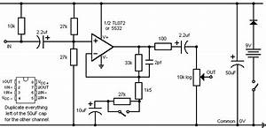 Simple Stereo Electret Microphone Preamplifier Under