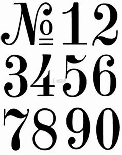 Numbers Number Stencils Letter Mailbox Lettering