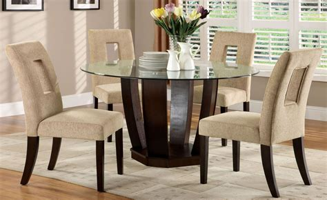 west palm  espresso glass top  pedestal dining room