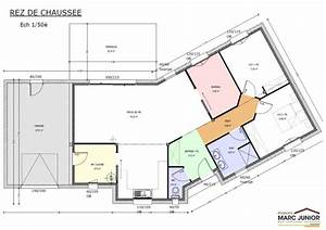 plan maison en v plain pied plan maison plain pied 90m2 13 With plan de maison 100m2 1 plan maison 100 m178 en v de plain pied ooreka