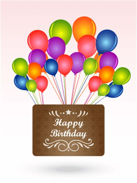 Free Birthday Card Picture by Color Birthday Balloons Card Birthday Greeting