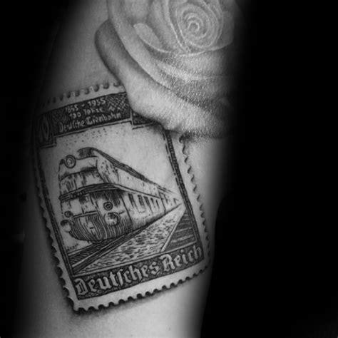 20 Postage Stamp Tattoo Designs For Men  Traveler Ink Ideas