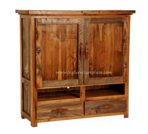 Tv Armoires For Flat Screens Wyoming Reclaimed Barnwood Flat Screen Tv Armoire