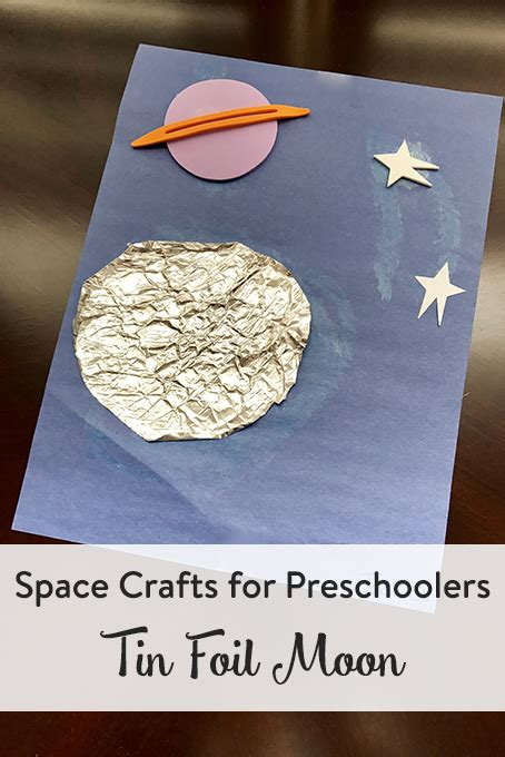 space crafts for preschoolers tin foil moon space 133 | moon craft preschool