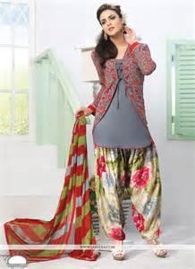 designer suits for grey crepe designer punjabi suit