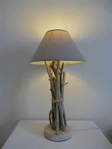 Lampe Chevet Bois Flotté : lampe de chevet en bois flott driftwood lamp cr ations diy pinterest lampe de chevet ~ Teatrodelosmanantiales.com Idées de Décoration