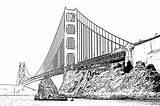 Gate Coloring Golden Bridge Voyage Designlooter Printable 426px 63kb sketch template
