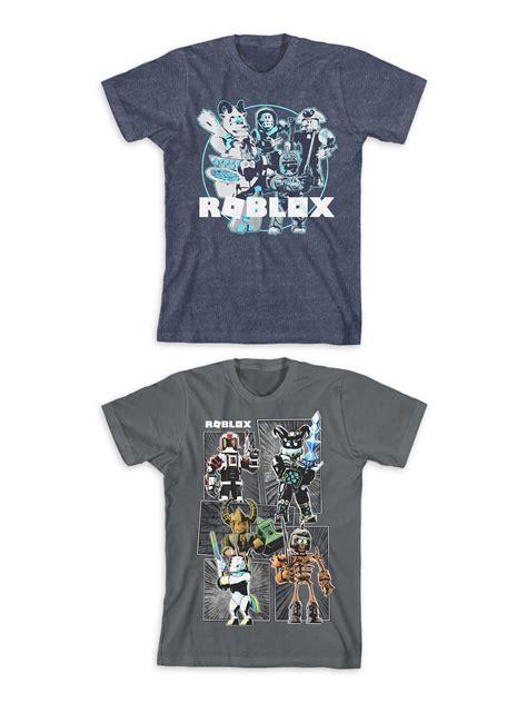 roblox roblox boys short sleeve graphic  shirts  pack size   walmartcom walmartcom