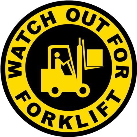 Watch Out For Forklift Sign P4350   by SafetySign.com