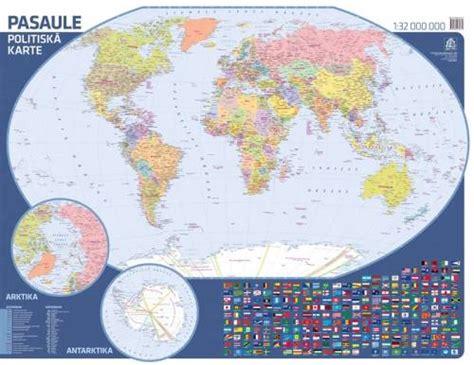 Maps - Wall maps - Pasaule. Politiskā karte