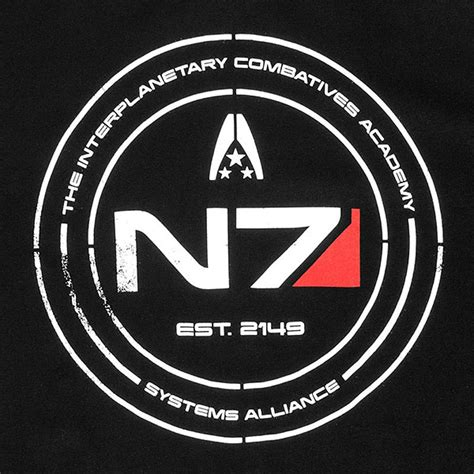 n7 mass effect mass effect n7 cadet t shirt thinkgeek