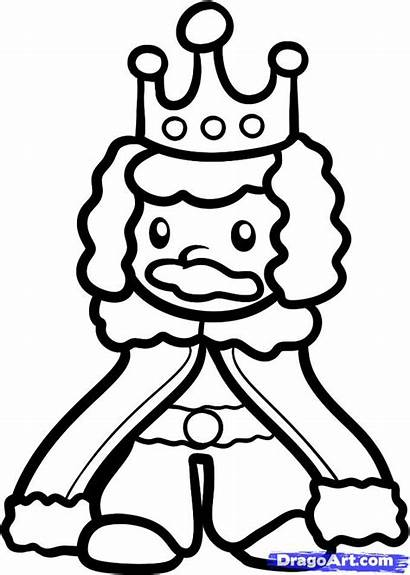 King Draw Drawing Step Easy Drawings Crown