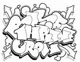Graffiti Coloring Pages Street Letters Characters Books Lettering Jr Grownups sketch template