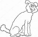 Poodle Coloring Cartoon Dog Skirt Vector Drawing Labrador Cute Mastiff Illustration Getdrawings Retriever Pages Vectorstock Vectors Neapolitan Artist sketch template