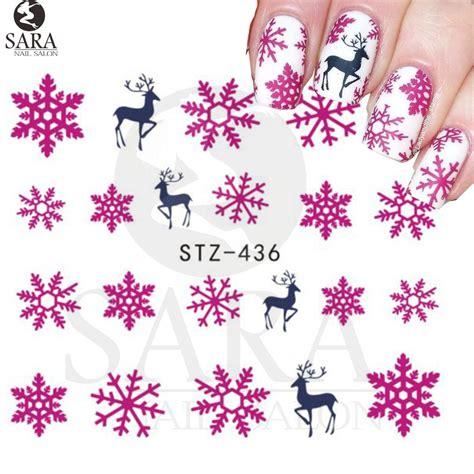 nail salon sheet xmas christmas nail art water decals