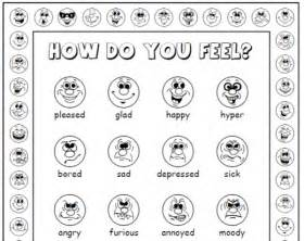 Free Printable Feelings Faces Emotions