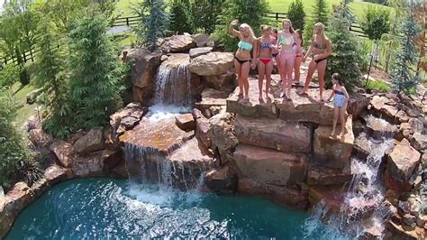 Aquascape Swimming Pools by Backyard Cliff Diving Must See Aquascape Pools Okc