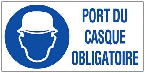 port du casque obligatoire port du casque obligatoire panneaux de signalisation et signaletique