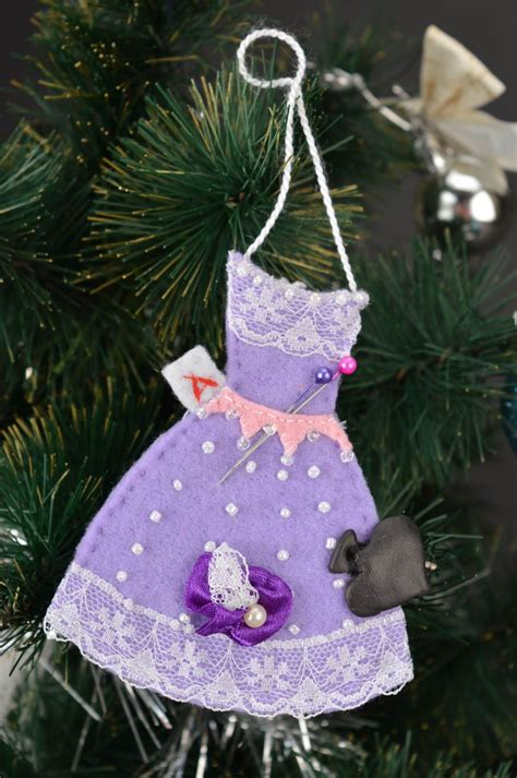 madeheart decoration de noel deco fait main feutre robe