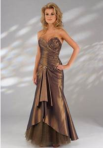 bronze prom dress oscar fashion review gossip style With ivory and bronze wedding dresses