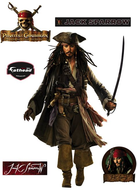 Fathead Princess Wall Decor by Pirates Of The Caribbean S Jack Sparrow Fathead Disney