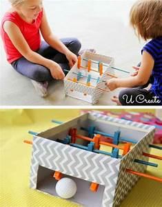 Basteln Für Jungs : mini tischf ball aus einem schuhkarton basteln for the ~ Lizthompson.info Haus und Dekorationen