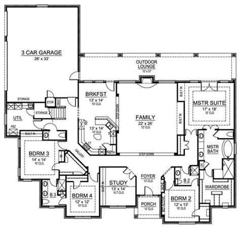 european house plan   bedrooms   baths plan