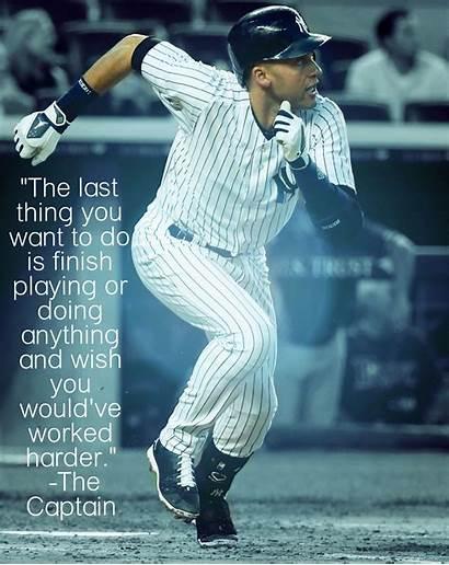 Jeter Derek Baseball Quotes Yankees Mlb Last