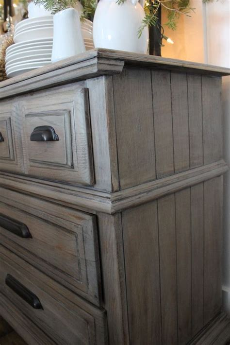 driftwood gray paint stain color easy and complete tutorial the dresser is a