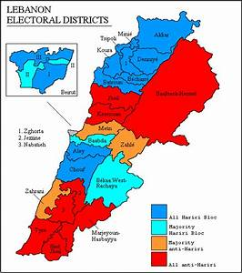 Lebanon. Legislative Election 2005 | Electoral Geography 2.0