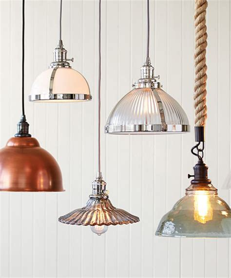 metal bell pendant rustic kitchen lighting