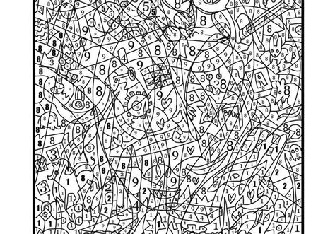 coloring  numbers hard   coloring pages  teenagers halloween coloring pages