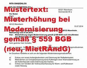 Mahnung Ohne Rechnung Bgb : mustertext mieterh hung bei modernisierung 559 bgb mietr ndg ~ Themetempest.com Abrechnung