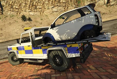Gta 5 Car Modification Unlock by Land Rover Defender Recovery Truck With Car Unlocked