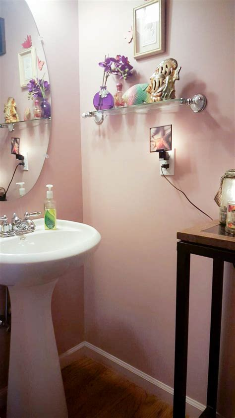 love  gorgeous bathroom wallpaper transformation